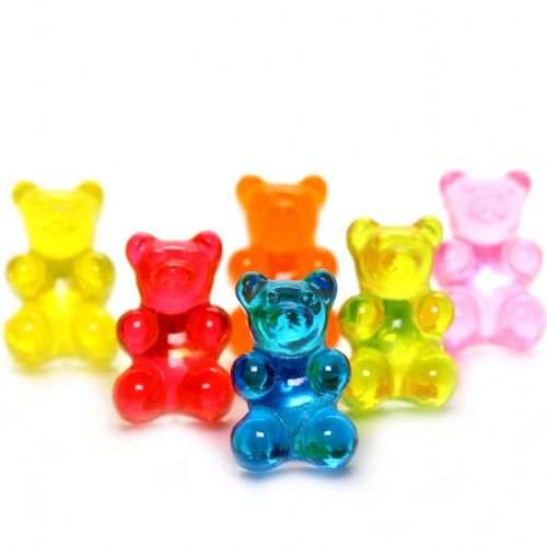 Bluebubble MY SWEET SHOP Jelly Gummy Bear Stud Earrings With FREE Gift Box